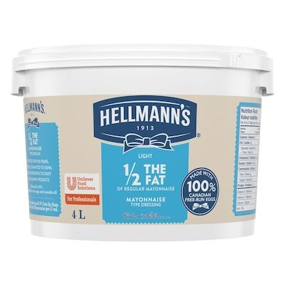 Hellmann's® 1/2 Moins de Gras Mayonnaise Légère 2 x 4 L - Guests want healthier options that taste great