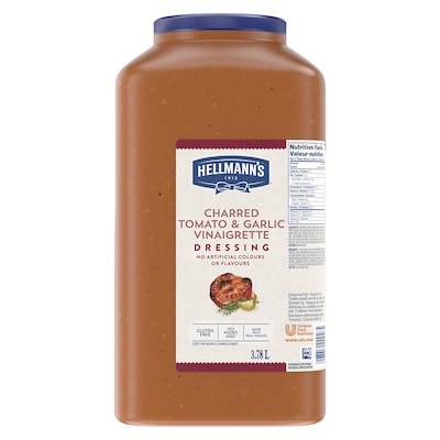 Hellmann's® Charred Tomato & Garlic 2 x 3.78 L - I'm constantly looking for new flavour combinations like the Hellmann's® Charred Tomato & Garlic (2 x 3.78 L) to keep my salads fresh and exciting.