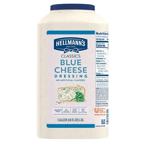 Hellmann's® Classiques Vinaigrette Fromage Bleu 2 x 3.78 L - Hellmann's® Classiques Vinaigrette Fromage Bleu: Agrémentez vos meilleures salades de vinaigrettes qui ont l'aspect, le goût et l'effet d'une vinaigrette maison.