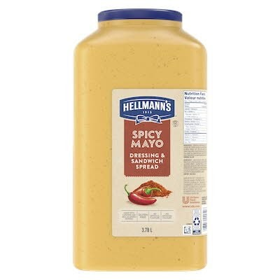 Hellmann's® Spicy Mayo Dressing and Sandwich Spread 2 x 3.78 L -