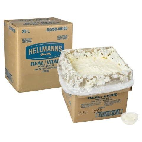 Hellmann's® Real Mayonnaise Bag in Box 1 x 20 L -