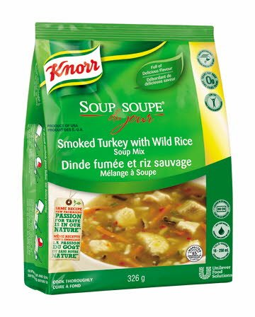 Knorr® Professional Soup Du Jour Mix Smoked Turkey with Wild Rice 4 x 326 gr -