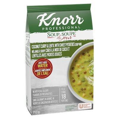 Knorr® Soup Du Jour Coconut Curry & Lentil With Sweet Potatoes 4 x 713g -