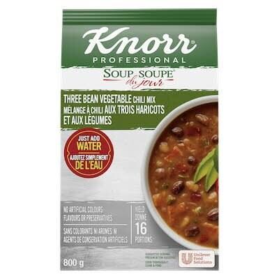 Knorr® Soup Du Jour Chili aux trois Haricots et Légumes 4 x 800 gr -