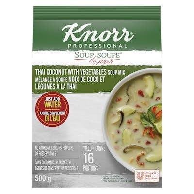 Knorr® Soup Du Jour Noix de Coco et Légumes à la Thaï 4 x 500 gr -
