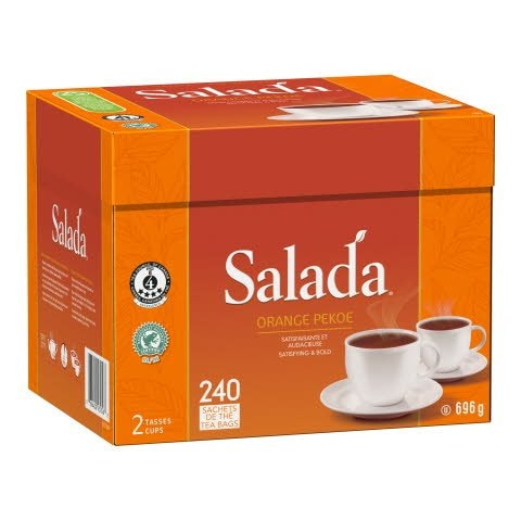 Salada® Thé Orange Pekoe 4 x 240 sachets par 2 tasses -