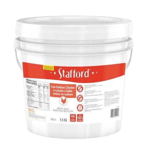 Stafford® Étiquette Rouge Base pour Bouillon au Poulet Réduite en Sodium 1 x 4.5 kg -