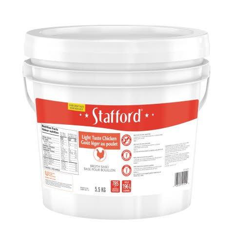 Stafford® Étiquette Rouge Base pour Bouillon Goût Léger au Poulet 1 x 5.5 kg -