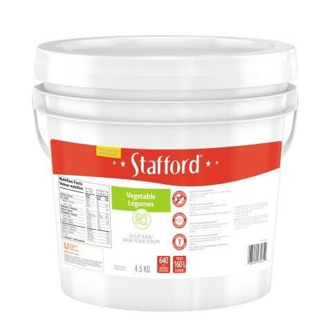 Stafford® Étiquette Rouge Base pour Soupe aux Légumes 1 x 4.5 kg -