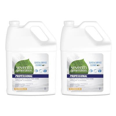 Seventh Generation Professional Glass and Surface Cleaner Refill 2 x 3.78 l - USDA certified