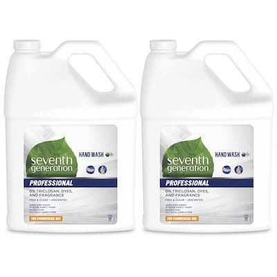 Seventh Generation Professional Liquid Hand Wash Soap Refill 2 x 3.78 l -