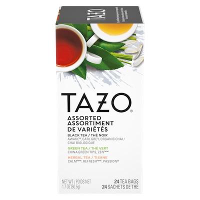 TAZO® Assortiment de Thé 8 Saveurs 6 x 24 sachets - Nous préparons nos propres mélanges avec TAZO® Assortiment de Thé 8 Saveurs 16 x 24 sachets: osez être différent