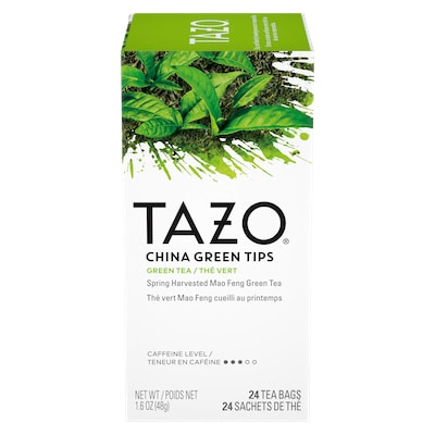 TAZO® Hot Tea China Green Tips 6 x 24 bags - We've got our own thing brewing with TAZO® Hot Tea China Green Tips 6 x 24 bags: dare to be different