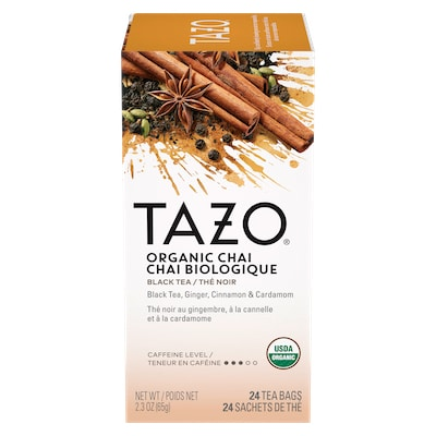 TAZO® Hot Tea Organic Chai 6 x 24 bags - We've got our own thing brewing with TAZO® Hot Tea Organic Chai 6 x 24 bags: dare to be different