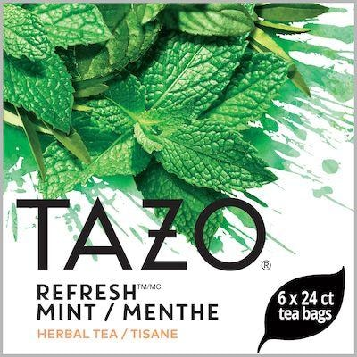 TAZO® Hot Tea Refresh Mint 6 x 24 bags - We've got our own thing brewing with TAZO® Hot Tea Refresh Mint 6 x 24 bags: dare to be different