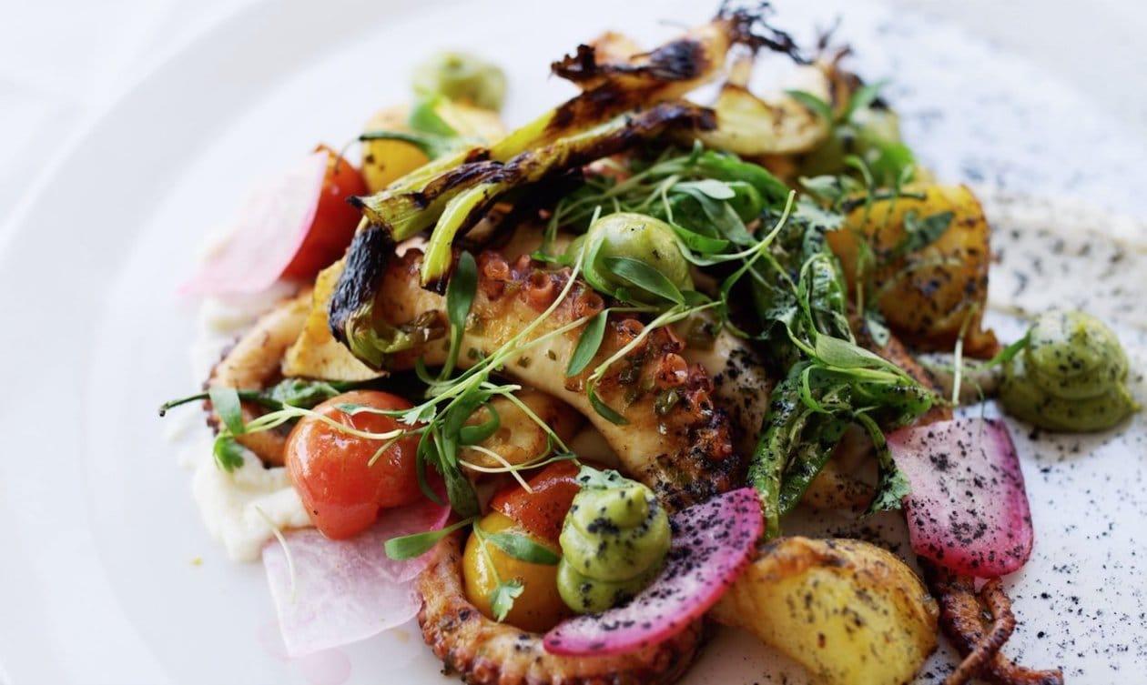Octopus in Salsa Verde with Chicharron – recipe