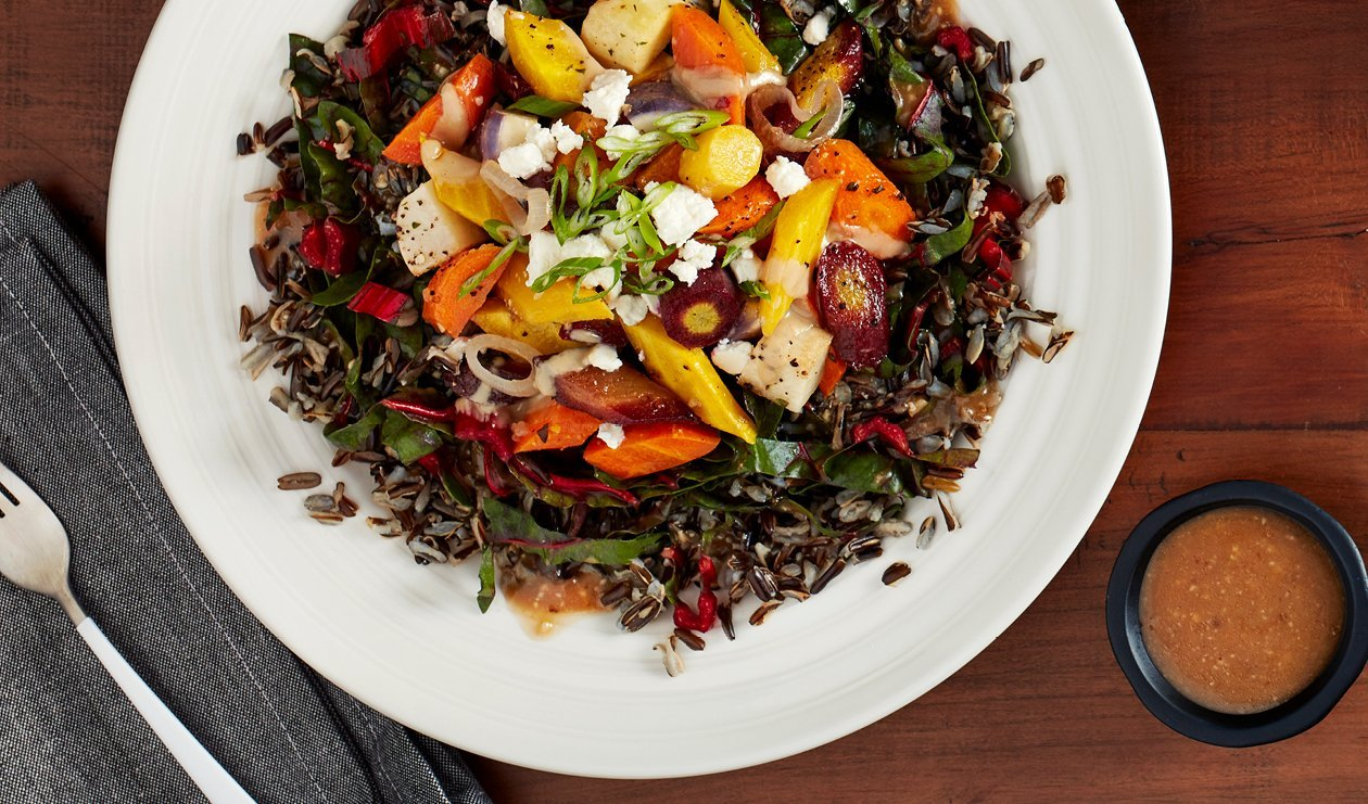 Balsamic Maple Miso Glazed Root Vegetable Salad – recipe