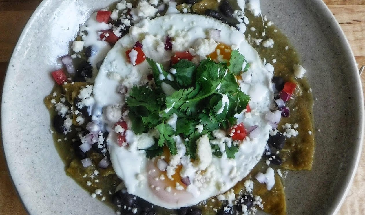 Chilaquiles Verdes with Fried Eggs – recipe