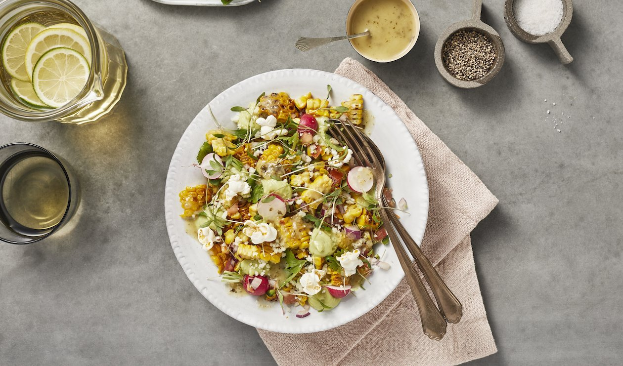 Elote Salad with Radish, Avocado, Lime and Cotija – recipe