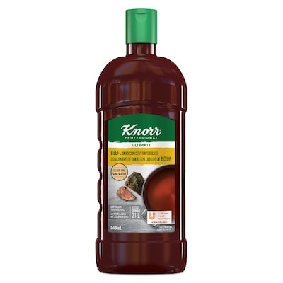 Knorr® Professional Liquid Concentrated Base Beef 4 x 946 ml - Knorr® Professional Liquid Concentrated Base Beef 4 x 946 ml delivers simple, clean food with ease. Knorr® Bases are reinvented by our chefs with your kitchen in mind.