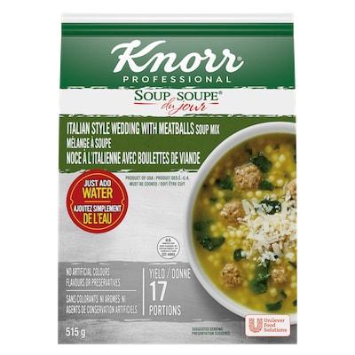 Knorr® Professionnel Soupe du Jour de Noce a l'Italienne avec Boulettes de Viande 4 x 515 gr - Offrir la soupe corsée que les clients attendent