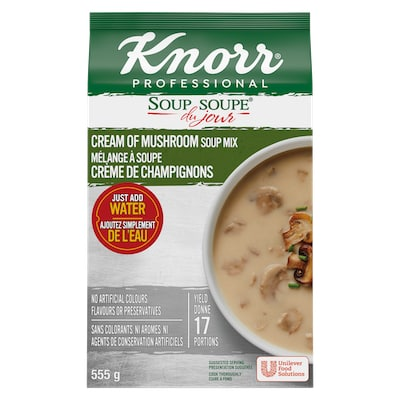Knorr® Professionnel Soupe du Jour Crème de Champignon 4 x 555 gr -