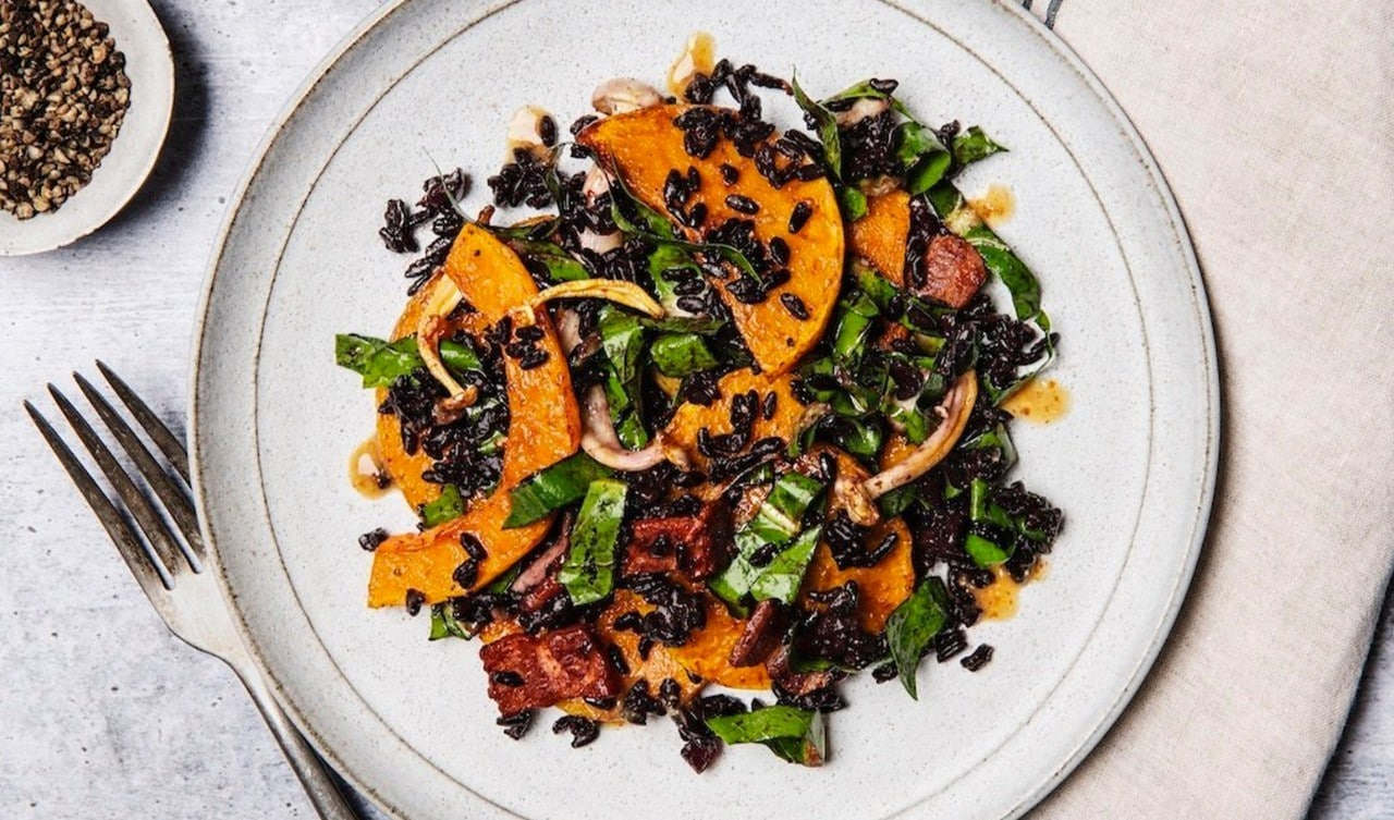 Roasted Squash and Black Rice Salad