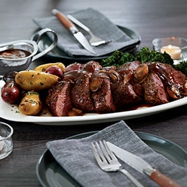 Chateaubriand for Two with Smoky Scotch Sauce