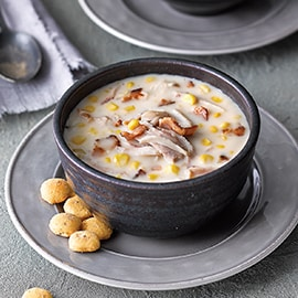 Chicken Corn Chowder with Smoked Bacon